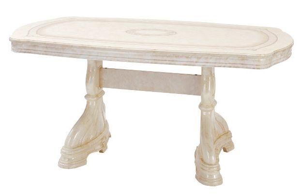サルタレッリ アマルフィ ダイニングテーブル 幅165 【送料無料】 白家具 SAMI-616-IV テーブル 食卓 家具 輸入家具 イタリア家具 木製 姫系 SAMI-616IV SAMI616-IV
