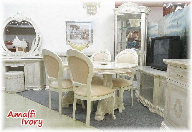 Wonderful Amalfi Ivory Dining Chairs Upholstered SAMI 618 IVP Dining Room Chair Italy  Design Baroque Rococo House Fixture Import Fixture Italy Home Fixture  Classic ...