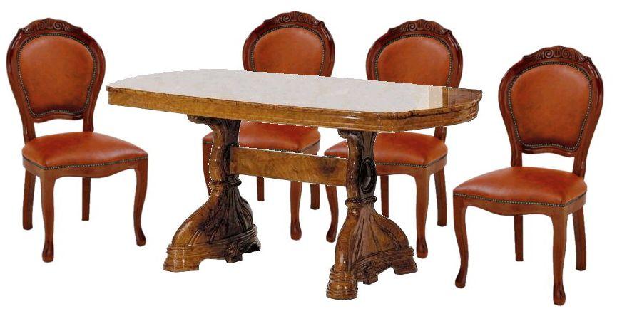 サルタレッリ アマルフィ ダイニングセット 5点 幅165 【送料無料】 SAMI-616-BR SAMI-618-BR2 ダイニングテーブルセット ダイニングテーブル 4人 テーブルセット テーブル 家具 輸入家具 イタリア家具 ウォールナット