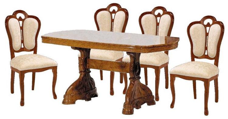 サルタレッリ アマルフィ ダイニングセット 5点 幅165 【送料無料】 SAMI-616-BR SFLI-521-BR ダイニングテーブルセット ダイニングテーブル 4人 テーブルセット テーブル 家具 輸入家具 イタリア家具 ウォールナット