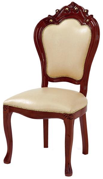 サルタレッリ ヴェルサイユ ダイニングチェア 【送料無料】 木製 合成皮革 チェア SVEI-708-BR 椅子 家具 輸入家具 イタリア家具 SVEI708-BR SVEI-708IBR いす イス ウォールナット