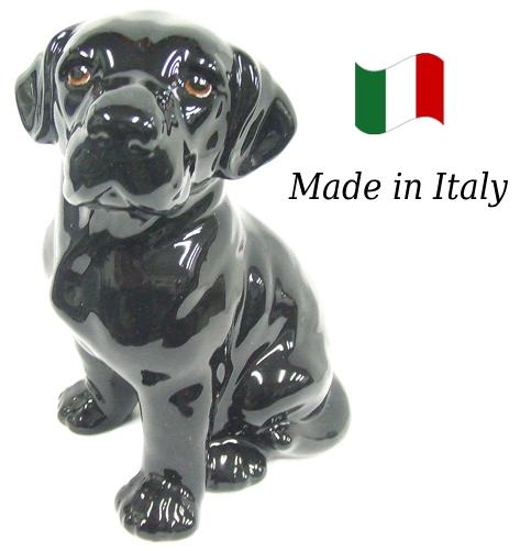 ラブラドール 置物 オブジェ h6-49sw 【送料無料】 イタリア 陶器 動物 雑貨 犬 イヌ