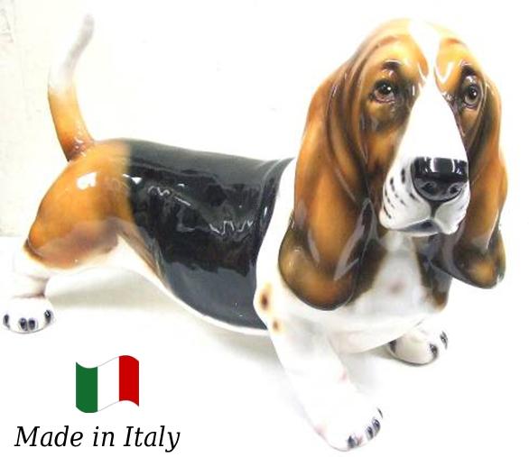 パセット 置物 オブジェ h6-256 【送料無料】 イタリア 陶器 動物 雑貨 犬 イヌ