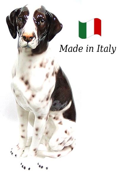 ポインター 置物 オブジェ 109po 【送料無料】 イタリア 陶器 動物 雑貨 犬 イヌ