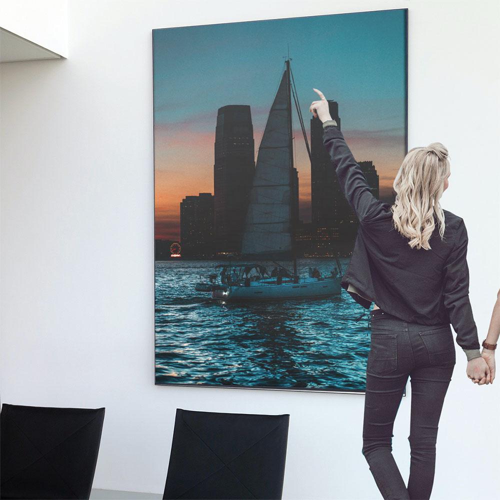 こちらのポスターはB0サイズです ポスター 特大 B0サイズ 約103x145cm 選べる用紙 大きさ 大きい 特注 インテリア おしゃれ 巨大 ビッグ 壁紙 西海岸 サーフ インパクト シック 倉庫 モノクロ シンプル アメリカン フォト 代引き不可 海 ビル モダン ヨット ブルックリン ニューヨーク