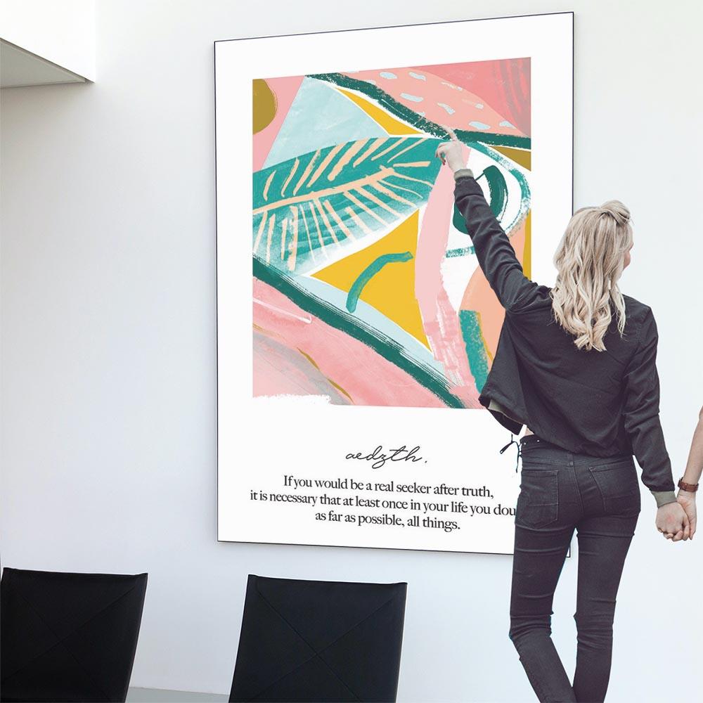こちらのポスターはA0サイズです ポスター 特大 A0サイズ 約84x118cm 選べる用紙 大きさ 大きい 特注 インテリア おしゃれ 巨大 ビッグ 壁紙 インパクト 絵具 可愛い シンプル 北欧 メッセージ 韓国 modern art 品質保証 ピンク モダン 絵画 マート カワイイ フォト かわいい