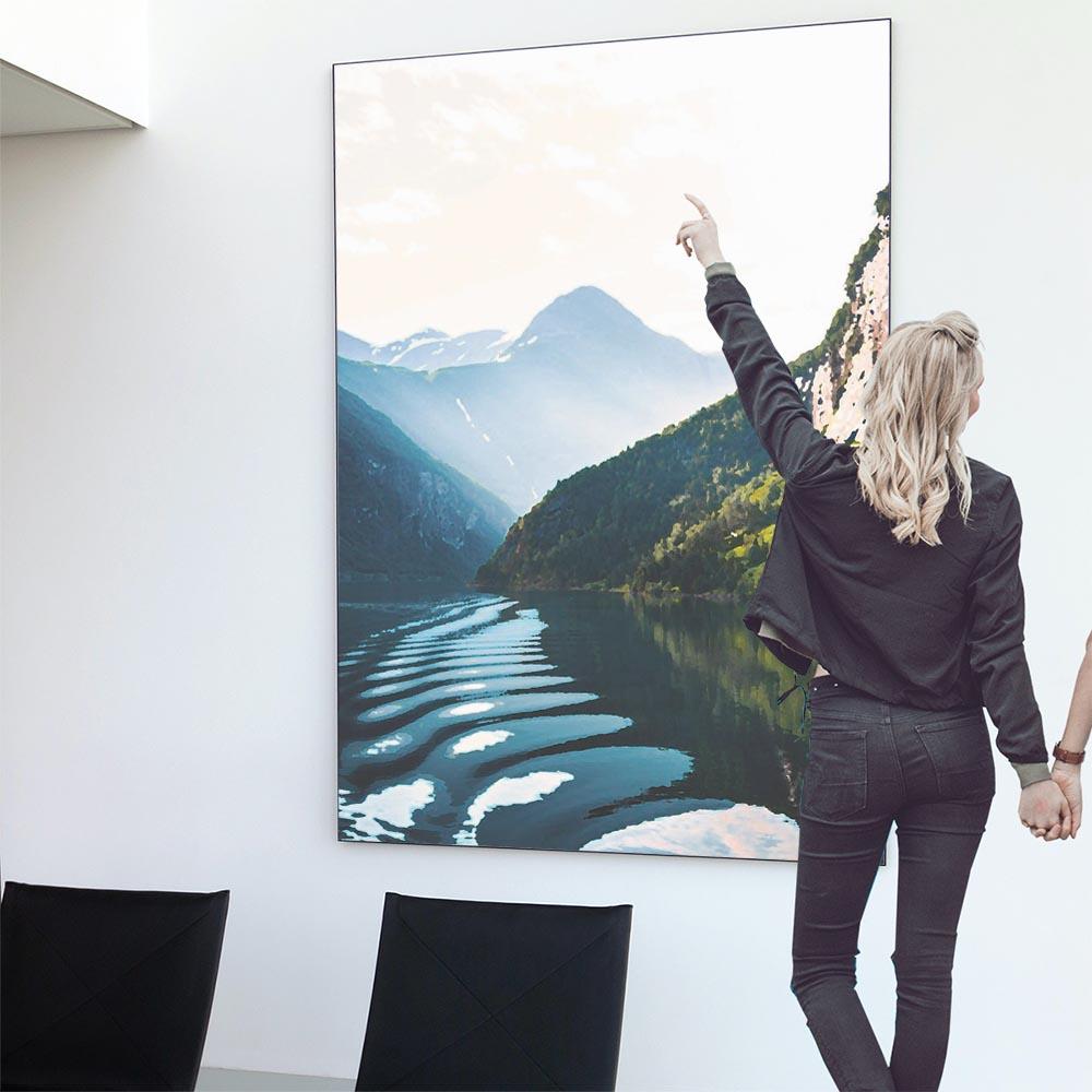 こちらのポスターはB0サイズです ポスター 特大 B0サイズ 約103x145cm 選べる用紙 大きさ 大きい 特注 インテリア おしゃれ 巨大 ビッグ 壁紙 山 ナチュラル インパクト ジャングル 送料無料 売買 モダン フォト 自然 空 山脈 登山 森 ボタニカル 川 シンプル
