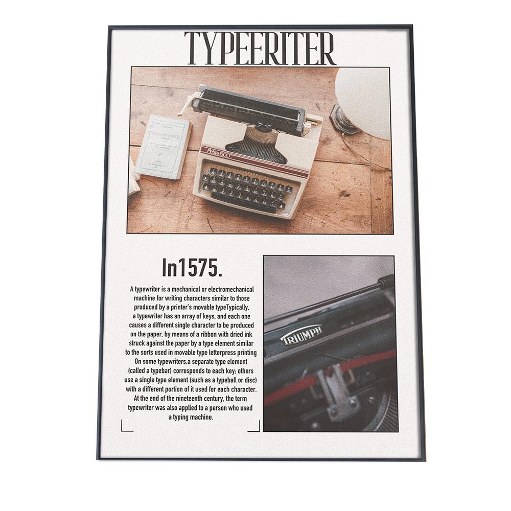 こちらのポスターはA3サイズです ポスター A3サイズ 約30x42cm 選べる用紙 大きさ インテリア 2020春夏新作 オシャレ ファッション 発売モデル おしゃれ タイプライター レトロ アンティーク 英字新聞 手紙 韓国 新聞 アメリカン カフェ