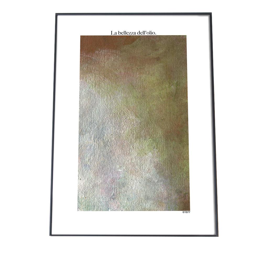 こちらのポスターはA3サイズです ポスター A3サイズ [ギフト/プレゼント/ご褒美] 約30x42cm 選べる用紙 大きさ インテリア おしゃれ ファッション 絵かわいい メタリック 絵絵具 アート グリーン 北欧 緑 SALENEW大人気 絵具