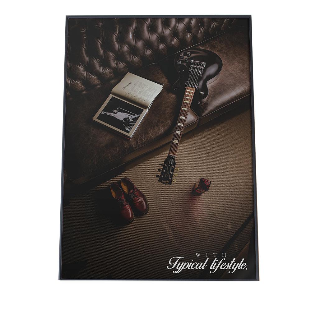 こちらのポスターはB3サイズです ポスター B3サイズ 約36x51cm 選べる用紙 大きさ インテリア オシャレ 選択 ファッション お洒落 アート ブルックリン カリフォルニア アメリカ 黒 楽器 白 シック ミュージック ブラウン アメリカンテイスト 再販ご予約限定送料無料 アメリカン 音楽 ギター ポップ レトロ
