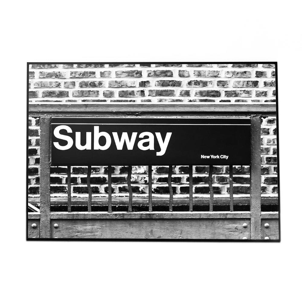 こちらのポスターはB1サイズです ポスター B1サイズ 約73x103cm 選べる用紙 大きさ インテリア 供え オシャレ フォト おしゃれ アート 訳あり モダン シンプル メッセージ ニューヨーク 街並み アメリカン 英語 地下鉄 モノクロ シック 白黒 ブルックリン お洒落 モノトーン サブウェイ