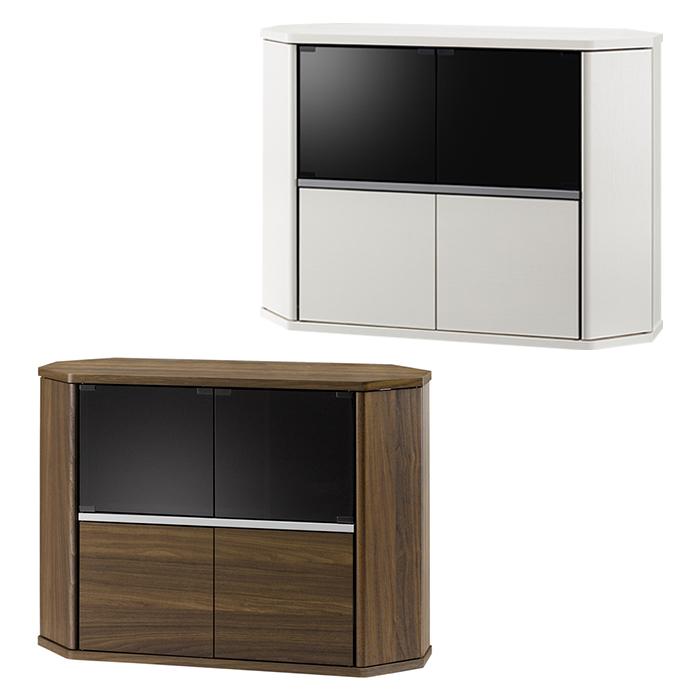 テレビ台 コーナー ハイタイプ 100幅 木製 おしゃれ 43型