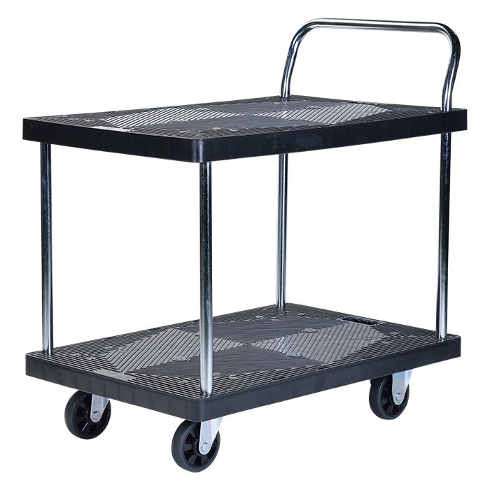台車 静音 軽量 業務用 300kg 棚付き 2段