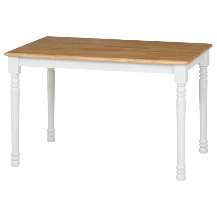 ダイニングテーブル 無垢 北欧 木製 単品 アンティーク風 ツートンカラー