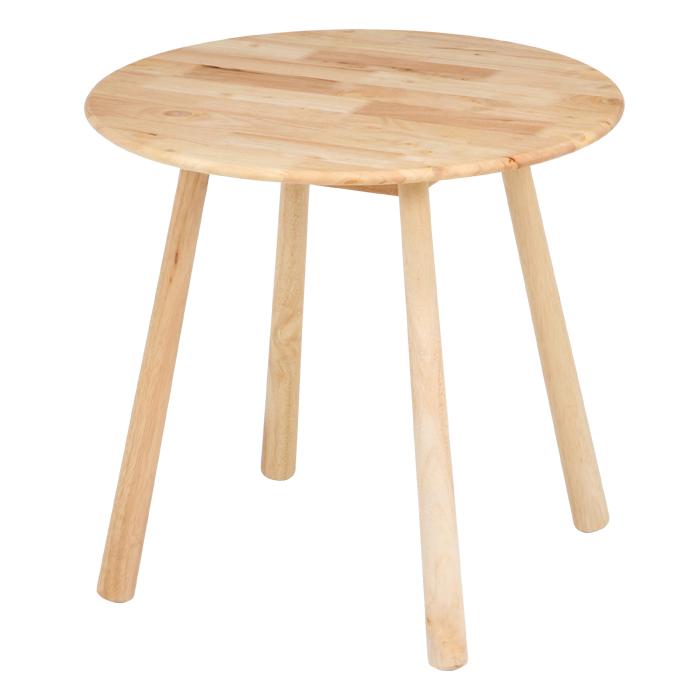 ラウンドテーブル 75cm カフェテーブル ダイニングテーブル 天然木 Natural Signature