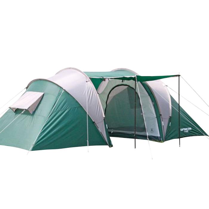 大型テント 4人用 3ルーム ドームテント 収納バッグ付き