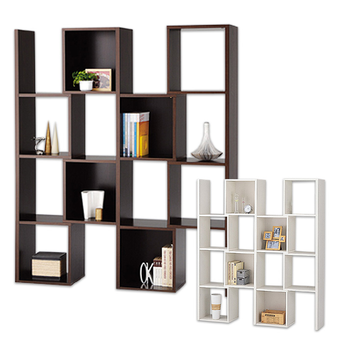 オープンシェルフ マルチボード 4列4段 スライド 収納棚 飾り棚 新品アウトレット