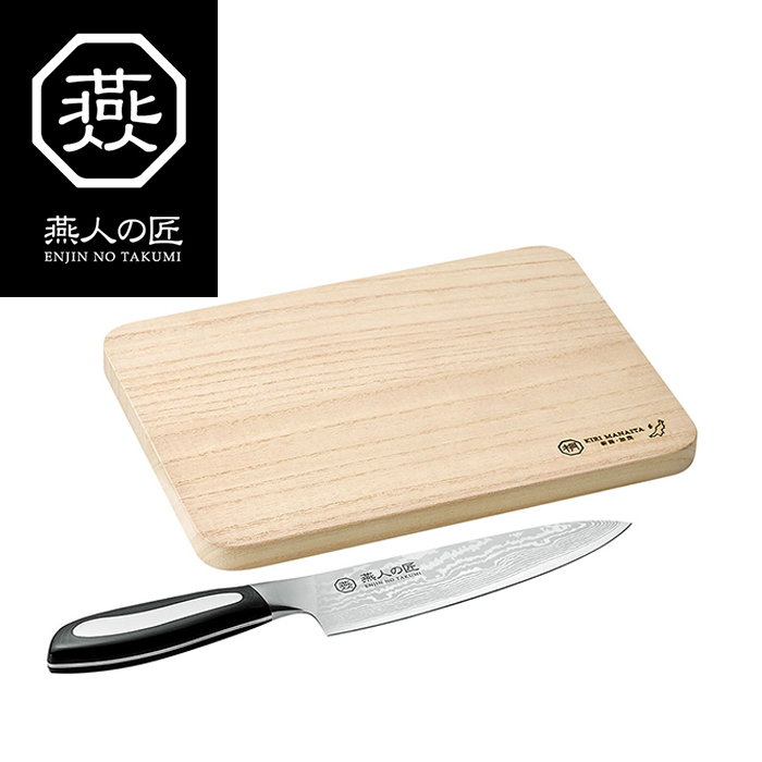 燕人の匠 牛刀包丁160mm&桐マナ板 調理道具 日本製 包丁 vm-xs