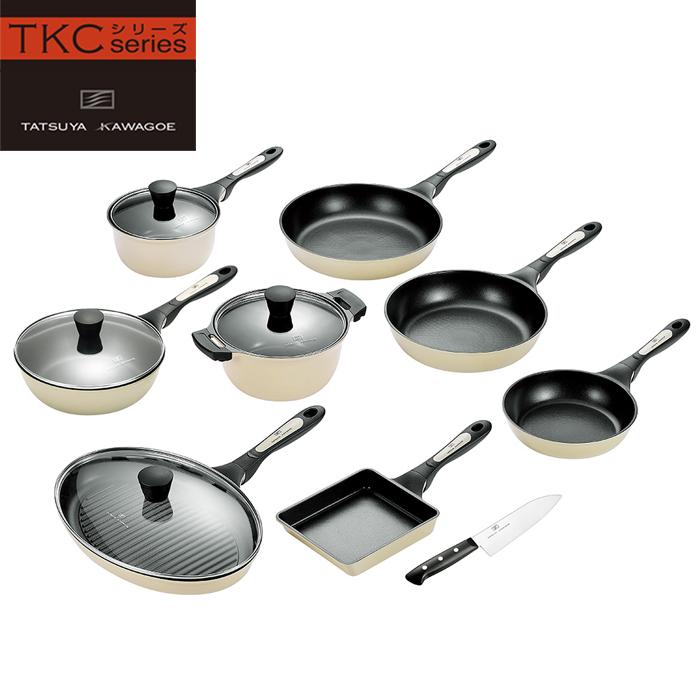 調理器具 9点セット IH対応 フライパン 片手鍋 両手鍋 卵焼き 包丁