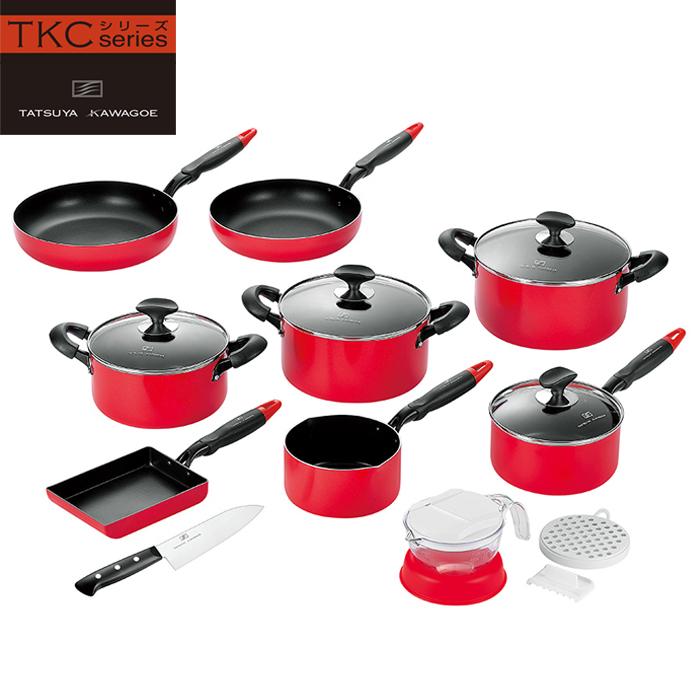 調理器具 10点セット IH対応 フライパン 片手鍋 両手鍋 ソースパン 包丁 ベジタブルスライサー
