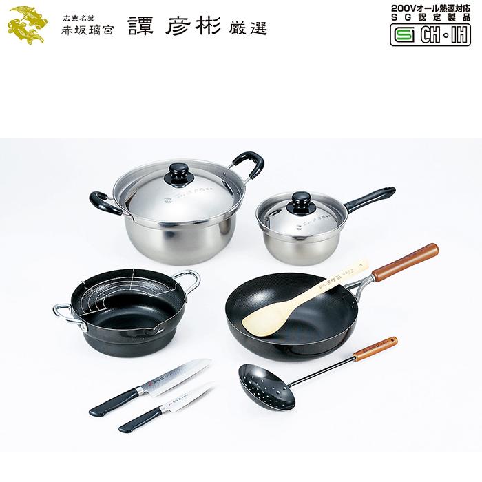 譚彦彬厳選 調理道具6点セット IH対応 中華料理 鉄製 本格的 調理vm-s