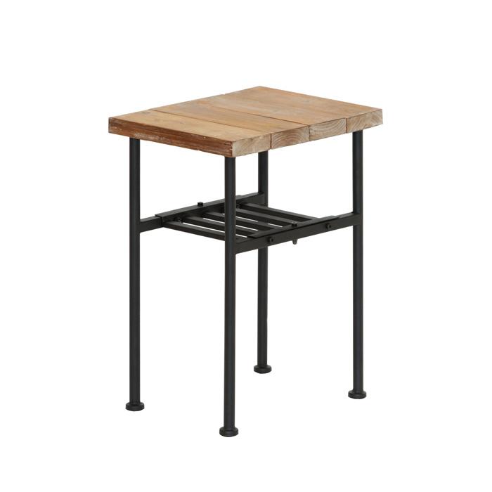 サイドテーブル 木製 幅30 ビンテージ風 アンティーク風 杉古材 おしゃれ 新品アウトレット ※代金引換不可※【本州・四国送料無料】