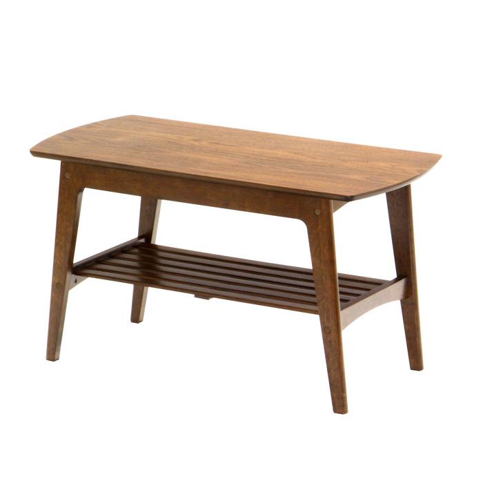 センターテーブル ウォールナット 木製 ローテーブル 90幅 アンティーク風 レトロ おしゃれ ※代金引換不可※【本州四国送料無料】