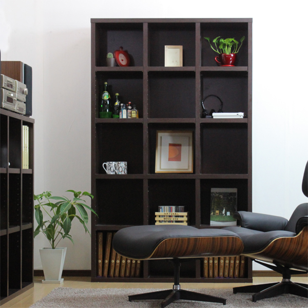 ラック 【送料無料】 木製 本棚 ビックシェルフ1018 1018 ブラウン ホワイト 幅110 シェルフ 多目的 収納 棚 大容量 シンプル オープン 書棚 本収納 リビング 書斎 オフィス 価格 AW-L1