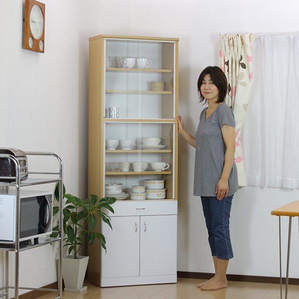 超特価激安 食器棚 幅60 幅60cm 高さ180cm キッチンボード 高さ180cm スリム食器棚 180 白 かわいい 引き戸 引き出し 台所 キッチンラック キッチン収納 一人暮らし かわいい ホワイト 白 パントリー 木製 幅60cm 高さ180cm ガラス 扉 送料無料 AW-L1, メガネオプト:3f9a654f --- construart30.dominiotemporario.com