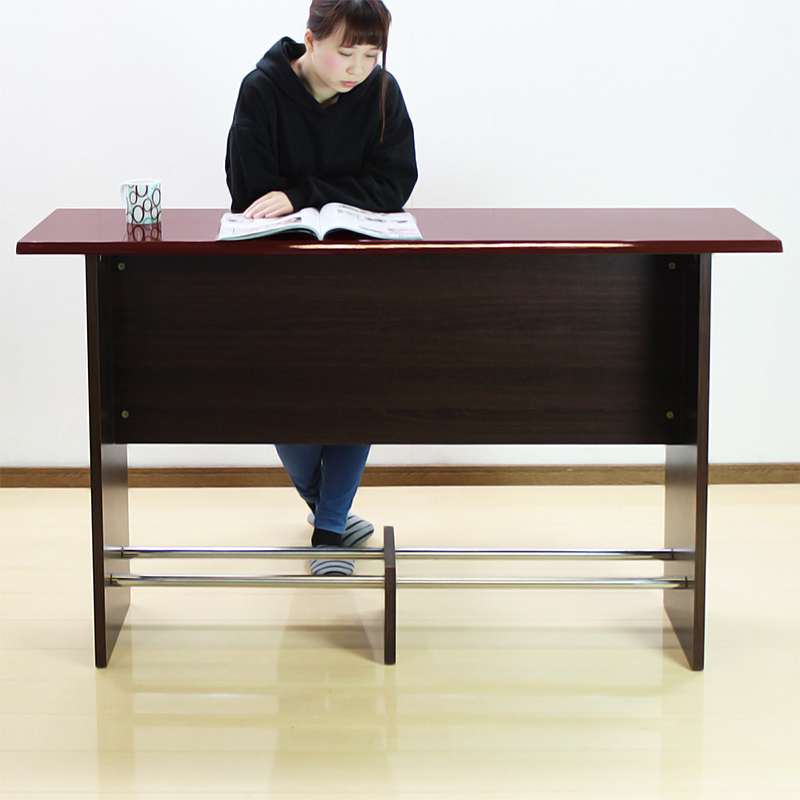 カウンターテーブル KW-150 アウトレット カウンターデスク 木製 ホワイト 白 ブラウン 幅150 高さ90 バー カウンター 鏡面 業務用 店舗 受付 おしゃれ 対面 対面カウンター YW-L1