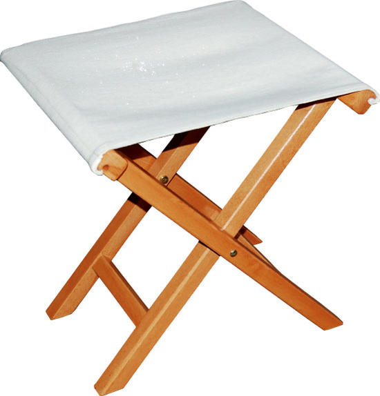 LaSedia / Regista P STOOL / COTTON-NATURALラ・セディア / レジスタ P スツール / コットン ナチュラル椅子/いす/イス/折りたたみ/木製/帆布/コットン/イタリア/セデイア
