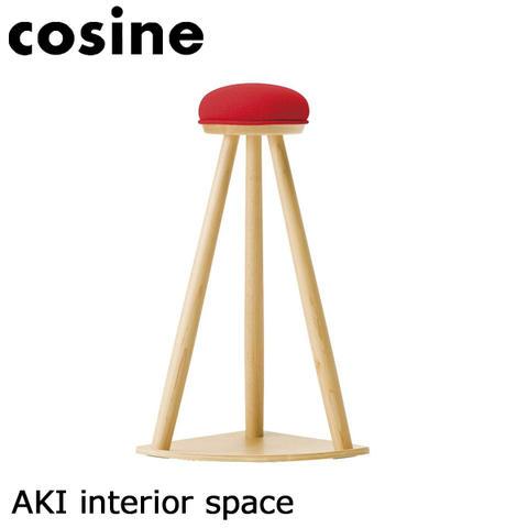 【送料無料】cosine コサイン 赤い帽子のキッチンスツール メープル材ST-10CM【 椅子 いす スツール 】