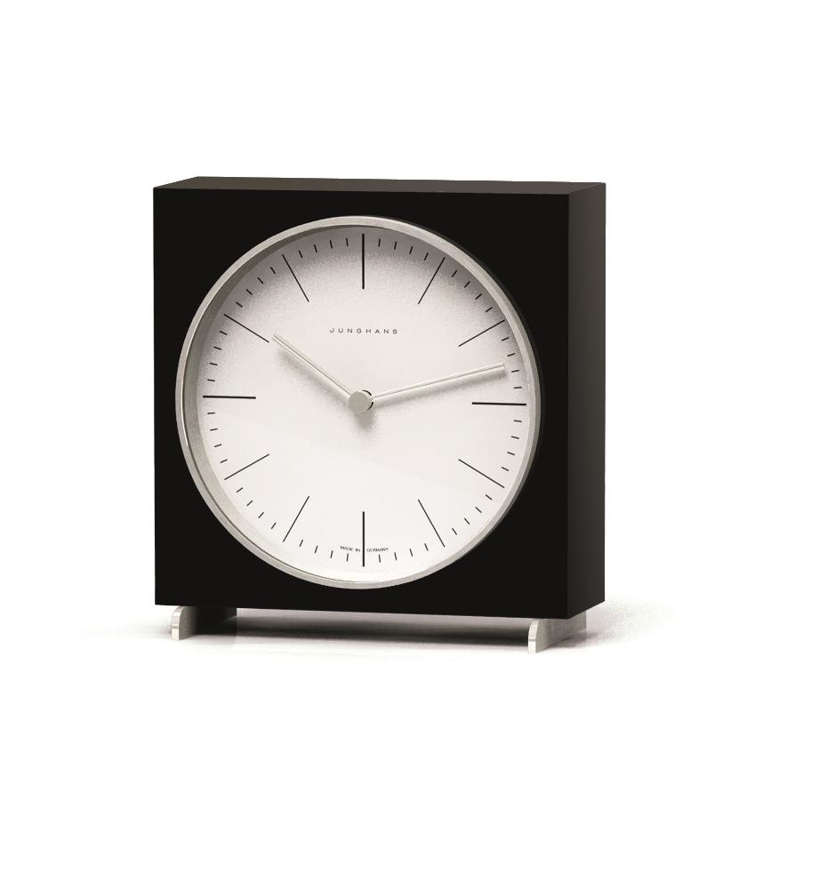 【送料無料!】Junghans ユンハンスMax Bill マックスビル / Tischuhr schwarz 363Table Clock Black置き時計 / テーブルクロック ブラック / MBL-03-0006ブラックピアノラッカー仕上げ