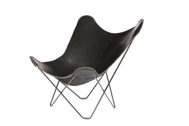 ≪送料無料!≫BKF Butterfly Chair / Pampa Mariposa / Black LeatherBKFバタフライチェア / パンパ・マリポサ / ブラック・レザーパーソナル/リラックス/一人掛け/革/アルゼンチン/ル・コルビジェ/北欧/スウェーデン/ボネット/クルチャン
