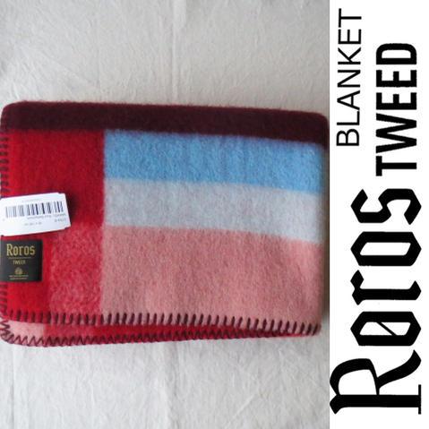 ROROS TWEED / ロロス ツイード ブランケットMIKKEL-BABY RED / ミッケル-ベビー レッド 65×100cm北欧 / ノルウェー / ウール / 羊毛 / 毛布 / 膝掛け / ひざかけ / ひざ掛け / クリスマス / 還暦祝い