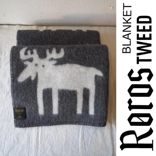 ROROS TWEED / ロロス ツイード ブランケットELG MINI grey / エルク ベビー・グレー 65×85cm北欧 / ノルウェー / ウール / 羊毛 / 毛布 / 膝掛け / ひざかけ / ひざ掛け / プレゼント / クリスマス / 敬老の日 / 還暦祝い