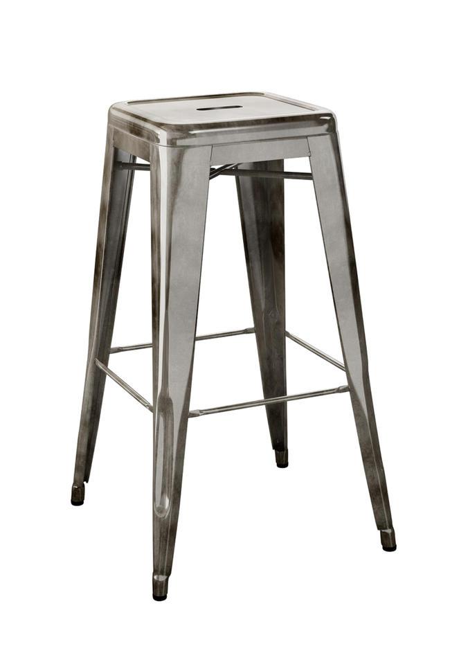 ≪送料無料!≫TOLIX / H-STOOL / H75 RAW STEELトリックス / Hスツール / 高さ75cm・ロースチールフランス/スツール/カフェチェア/スタッキング/H stools/カウンタースツール/カウンターチェア