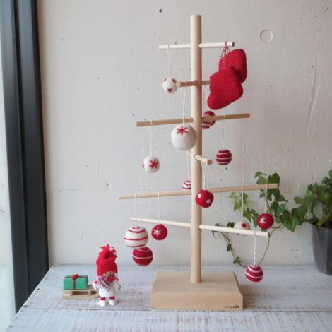 ≪残りわずか≫undyed+ アンダイド プラスMerry X'mas set/メリークリスマス セットクリスマス ツリー / フェルト / 手作り 手づくり / ウール / シンプル / デザイン / 北欧風
