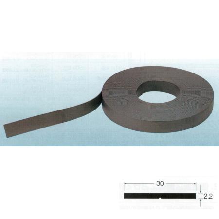 マグネットゴム(ロール物) No.77-825 エレベーター保護幕用 幅30mm×厚さ2.2mm 20m