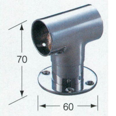 アシスト ハート・ブラケット(スルー) No.66-886 ステンレス製SUS304(18.8cr) φ32mm
