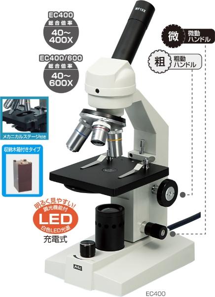 アーテック 生物顕微鏡 EC400/600(メカニカルステージ・木箱 8485