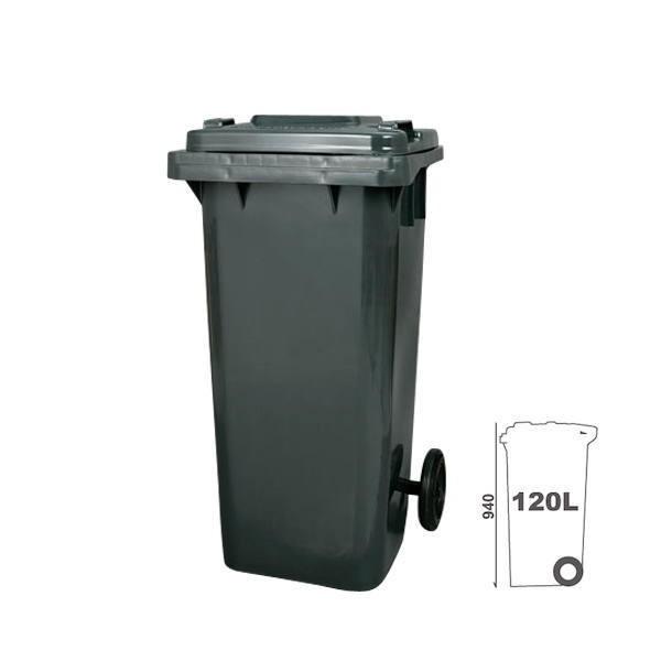 ダルトン プラスチック トラッシュカン ゴミ箱 120リットル PT-120GY グレー