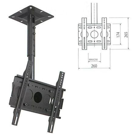 本宏製作所 小型 天吊フラットディスプレイハンガー 角度調整型(VESA200対応) HH-S