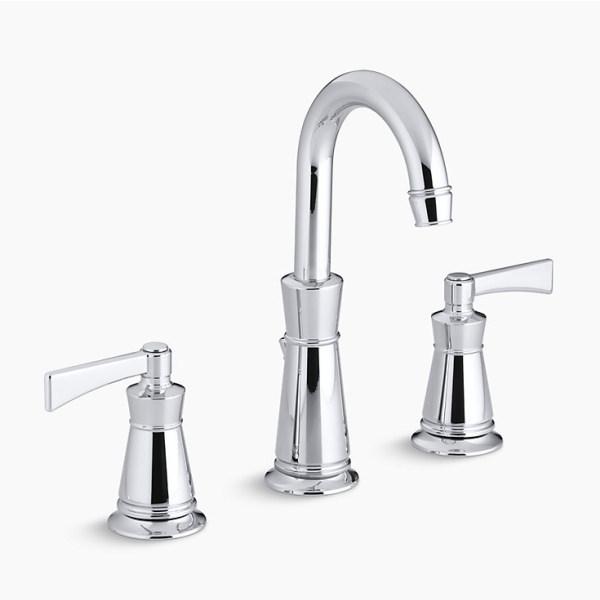 Kohler 【正規輸入品】 アーチャー 2ハンドルワイドスプレッド 洗面用水栓 K-11076-4-CP