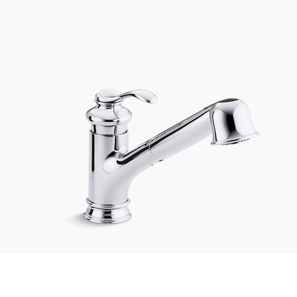 ファッションデザイナー キッチン水栓 【正規輸入品】 シングルレバー Kohler フェアファックス K-12177-CP:イーヅカ-木材・建築資材・設備