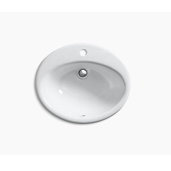 Kohler 【正規輸入品】 ファーミントン ドロップイン 1H 洗面シンク K-2905-1-0