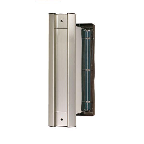 水上金属 NO.2000 ポストタテ型 内フタ付 気密型 厚壁用 壁厚調整範囲190~290 ヘアーライン クリアー仕上げ