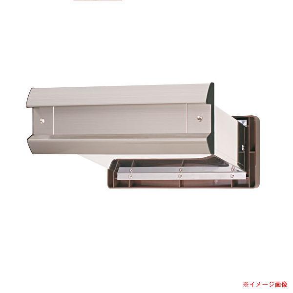 水上金属 NO.2000 ポストヨコ型 内フタ付 気密型 厚壁用 壁厚調整範囲190~290 ヘアーライン クリアー仕上げ