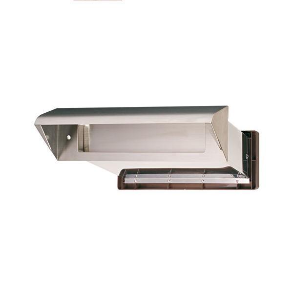 水上金属 NO.24 ステンレスシュート 内フタ付 気密型 厚壁用 壁厚調整範囲190~290 ヘアーライン