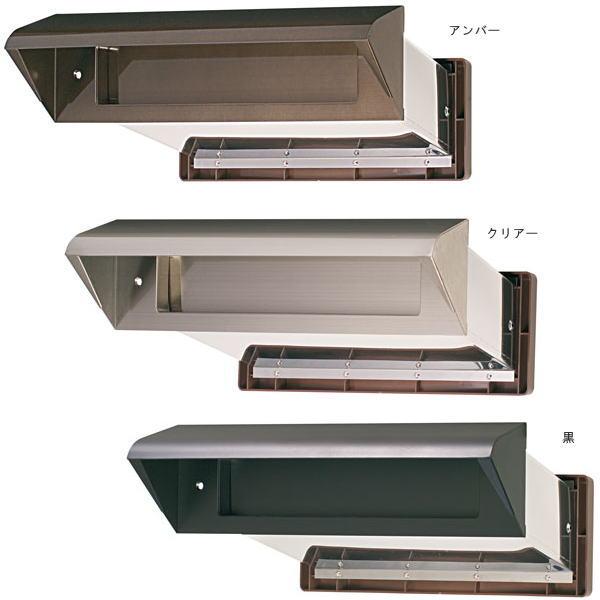 水上金属 NO.30 ステンレスシュート 内フタ付 気密型 厚壁用 壁厚調整範囲190~290 アンバー・クリアー・黒